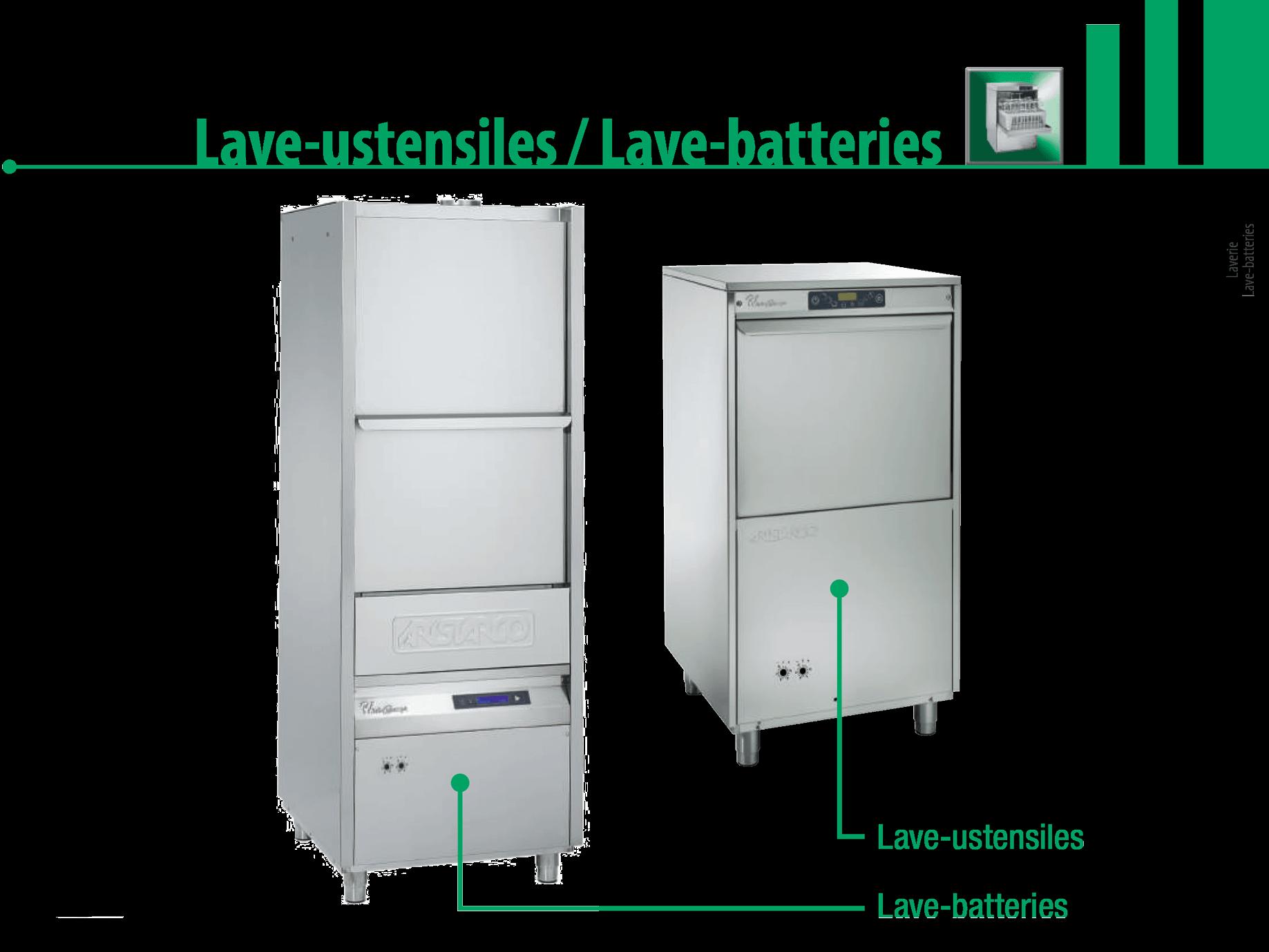 Lave-batteries/ustensiles